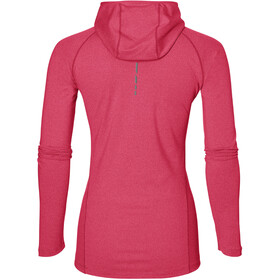 asics LS Hoodie Maglietta corsa maniche lunghe Donna rosa